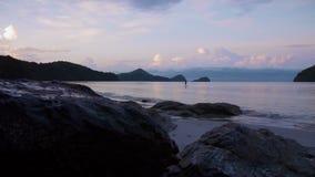 Утро пляжа сток-видео