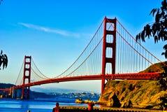 утро строба моста золотистое светлое Стоковые Изображения RF