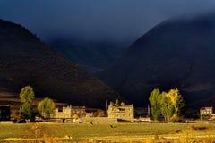 утро Тибет altiplano Стоковое Изображение RF