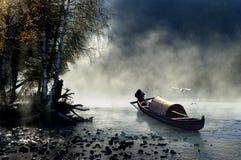 утро тумана Стоковая Фотография