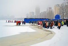 Утро явления божества (Kreshchenya) в Киеве, Украина, Стоковая Фотография RF
