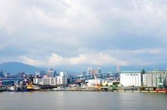 Утро Fukuoka гаван Стоковое фото RF