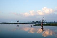 утро myanmar amarapura Стоковое Изображение
