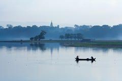утро myanmar amarapura Стоковая Фотография