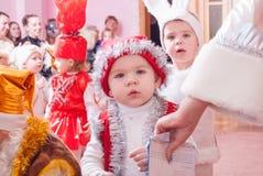 Утро ` s Нового Года в репортаже Lutsk 21 детского сада редакционном 12 2015 Стоковая Фотография RF