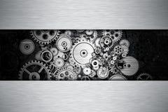 Утюг зацепляет предпосылку металла Стоковое фото RF
