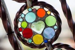 Утюг и мозаика цвета стеклянная часть украшения Стоковое фото RF