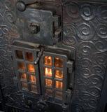утюг камина бросания Стоковая Фотография RF
