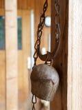 утюг cowbell старый Стоковое фото RF