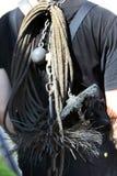 Утяжеленные цепь и жесткая щетка Стоковая Фотография