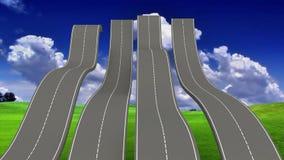 Ухабистые дороги Стоковая Фотография