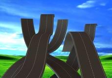 Ухабистые дороги Стоковые Фотографии RF
