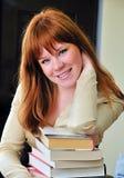 ухищренная девушка redheaded Стоковое Фото