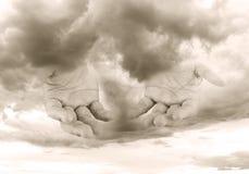 духовность руки бога принципиальной схемы Стоковое фото RF