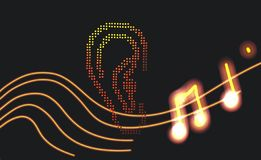 Ухо 🎶 музыки стоковое фото rf