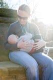 Уход младенца стоковая фотография