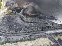 Ухудшенный ландшафт на юге  Польши Разрушенная земля Взгляд от стоковое изображение