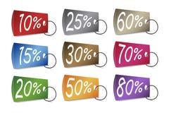 Уцененные бирки цен Стоковое Фото