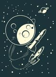 участвовать в гонке вектор ракет Стоковые Изображения