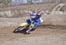 участвовать в гонке грязи bike Стоковое Изображение RF