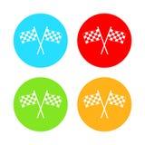 Участвовать в гонке значок флага Иллюстрация вектора, плоский дизайн иллюстрация вектора