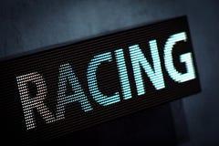 участвовать в гонке литерности дисплея диода Стоковое Изображение RF