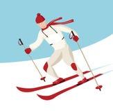 участвовать в гонке лыжник иллюстрация вектора