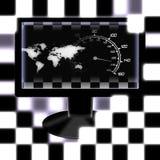 участвовать в гонке мир экрана Стоковое фото RF