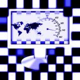 участвовать в гонке мир экрана Стоковые Фотографии RF