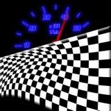участвовать в гонке одометра флага накаляя неоновый Стоковое Изображение RF