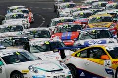 участвовать в гонке Порше чашки carrera автомобиля Стоковое Изображение RF