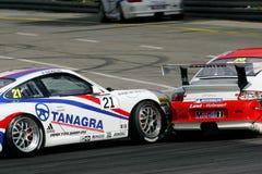участвовать в гонке Порше чашки carrera автомобиля Стоковые Изображения RF
