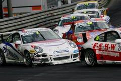 участвовать в гонке Порше чашки carrera автомобиля Стоковая Фотография