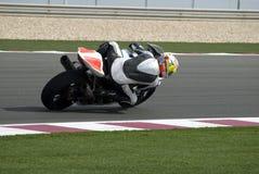 участвовать в гонке след superbike Стоковое Фото