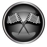 участвовать в гонке флага автомобиля Стоковое Изображение RF