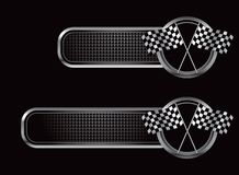 участвовать в гонке флагов знамен черный checkered Стоковое Фото