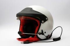 участвовать в гонке шлема автомобиля стоковое изображение rf