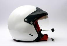 участвовать в гонке шлема автомобиля Стоковая Фотография