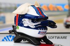 участвовать в гонке шлема Стоковые Фото