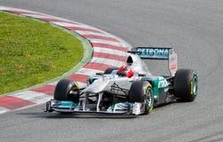 участвовать в гонке f1 mercedes Стоковые Фотографии RF