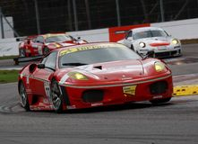участвовать в гонке fia gt автомобиля f430 ferrari Стоковая Фотография RF