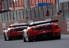 участвовать в гонке fia gt автомобиля f430 ferrari Стоковое Фото