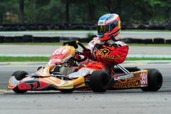 участвовать в гонке kart Стоковое Изображение RF