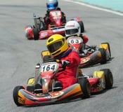 участвовать в гонке kart Стоковые Изображения RF
