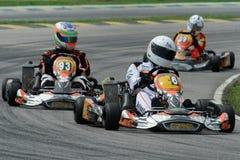 участвовать в гонке kart Стоковое фото RF