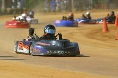 участвовать в гонке kart iv Стоковые Фотографии RF