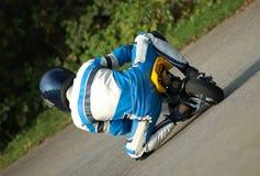 участвовать в гонке minibike Стоковые Фото