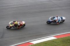 участвовать в гонке motogp действия 125cc Стоковое Фото