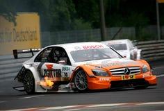 участвовать в гонке paffett gary dtmrace автомобиля Стоковые Фотографии RF