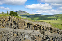 Участки земли Ручка-y-Гента, Йоркшира Стоковая Фотография RF